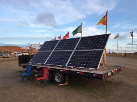 Solar panel array, Oceti Sakowin Camp, Nov 2016