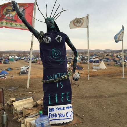 Sculpture at Oceti Sakowin Camp, November 2016
