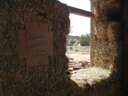 Community straw bale build, St. Michaels, Navajo Nation, Summer 2007