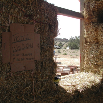 Community straw bale build, St. Michaels, Navajo Nation, Summer 2007